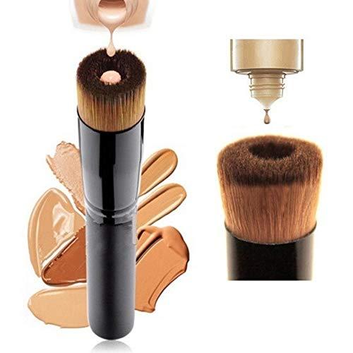 XdiseD9Xsmao Brosse De Maquillage Durable Professionnelle, Outil Cosmétique De Visage De Dérapage De Brosse Liquide De Base De Fibre Synthétique Molle De Base