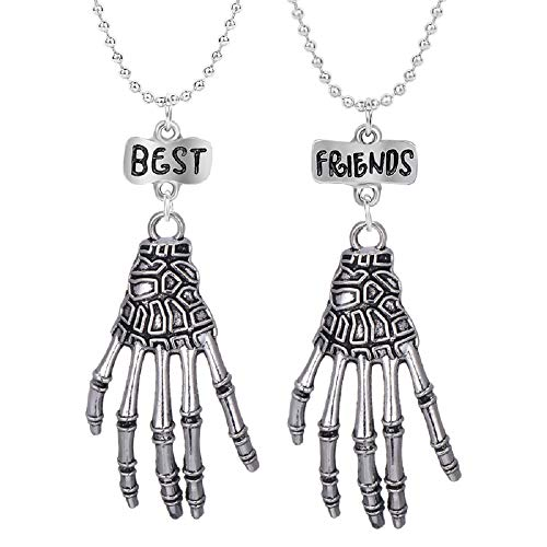Clysburtuony Best Friends Necklace Hands Pendant Necklace Choker for Women Men Boys Girls