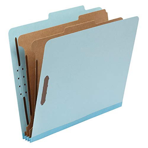 AmazonBasics Classification Folder- 100% Recycled, 2 Dividers, 2