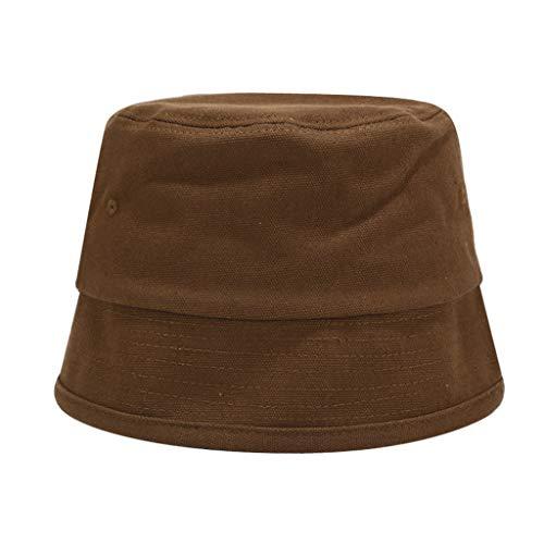 KJGTR Gafas de sol2020 sólido Retro Bucket Hat Lavabo Sombrero Hombres y Mujeres Street Trend Pure Cotton Fisherman Hat Sun Prevent Hats