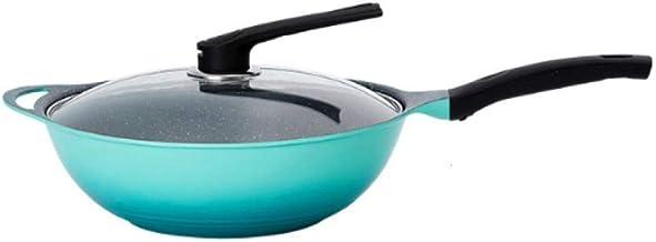 BGZC Non-stick pan, wheat stone non-stick pan, electric furnace gas stove (Color : Blue)