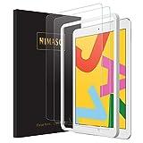 【ガイド枠付き】【2枚セット】Nimaso iPad 10.2 インチ (第七世代) 用 フィルム 強化ガラス 液晶保護フィルム