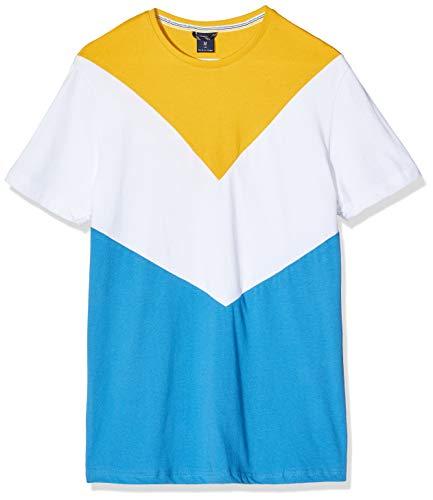 Springfield 4In Cortes V C S Amarillo Camiseta, Multicolor (Wales Range 85), Large (Tamaño del Fabricante: L) para Hombre