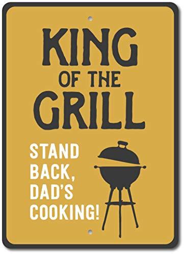 HNNT King of The Grill Sign Plaque décorative en métal pour Griller ou Griller