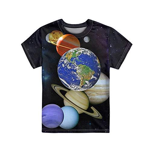 Showudesigns - Camiseta infantil con estampado de animales para niños y niñas de manga corta con cuello redondo de 3 a 16 años