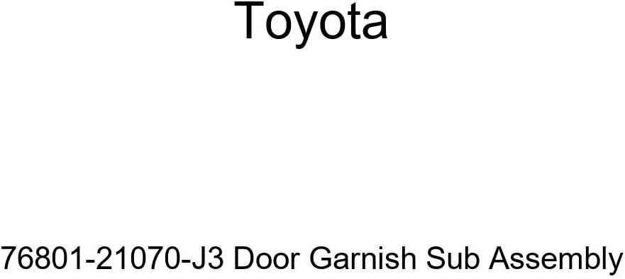 Genuine Toyota 76801-21070-J3 Max 69% OFF Door Sub Assembly Garnish Spasm price
