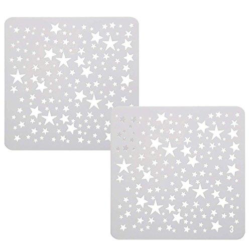 TRIXES Zeichenschablonen Vorlagen Mini Sterne für Scrapbooking Karten Bastelarbeiten etc.