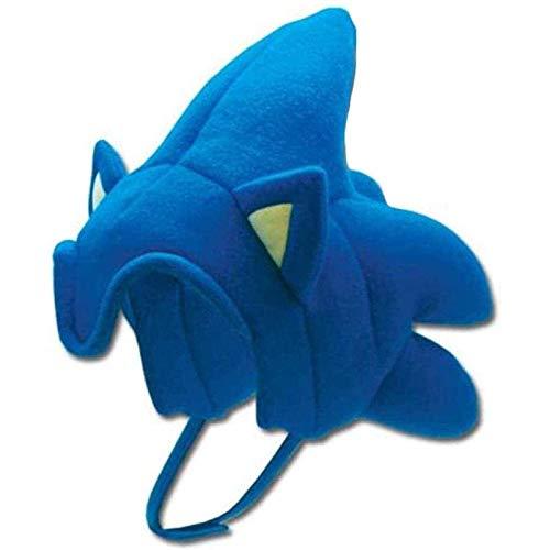 WZYJ 30cm Sonic Hat Plush Sonic The Hedgehog Hair Cosplay Fleece Hat Cosplay Hat Sonic Plush Hat Headwear