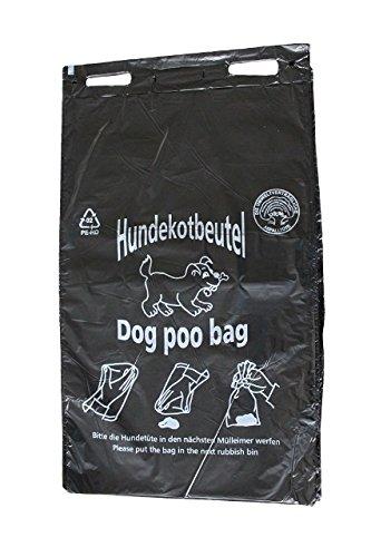 Hundekotbeutel - ÖKO - schwarz bedruckt weiß - abreissbar - 20 x 32 cm (1000 Stück)