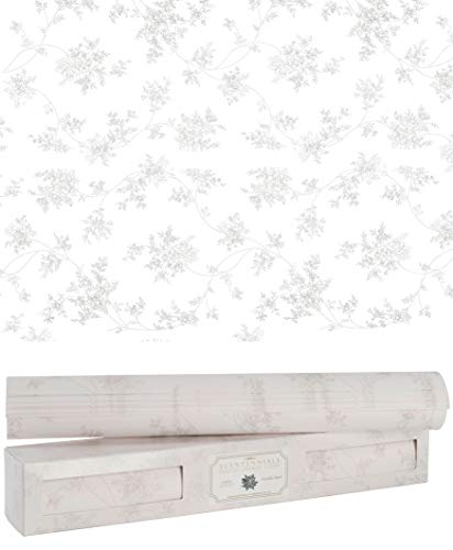 Scentennials Fragrant Drawer Liners - Floral Print - Six (6) Large 16.5 x 22 Inch Non-Adhesive Paper Sheets - Perfect for Closet Shelves and Dresser Drawers (Vanilla Pearl)