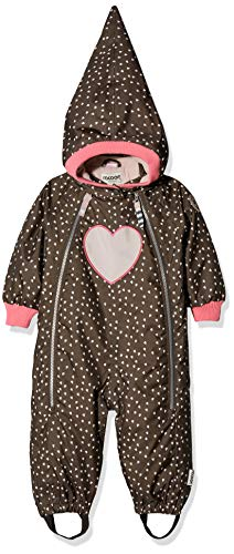 Racoon Baby-Mädchen Beatrice Heart Suit Schneeanzug, Braun (Chocolate Brown CHO), 86