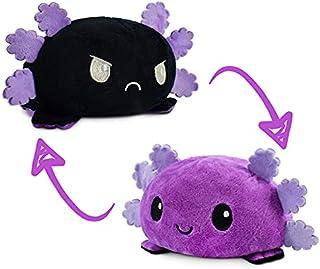TeeTurtle | The Original Reversible Axolotl Plushie | Patented Design | Sensory Fidget Toy for Stress Relief | Purple + Bl...