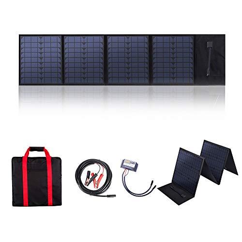 Betop-camp 60W 12V Faltbares Solarpanel-Ladegerät mit 10A Solar Charge Controller für Wohnmobil, Wohnwagen, Wohnmobil-Rallyes, Messen, Mobile Büros 12V System
