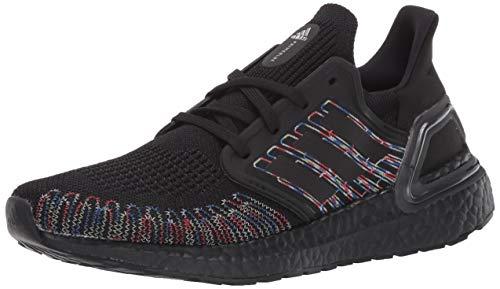 adidas Men's Ultraboost 20 Sneaker, Black/Black/Signal Green, 4