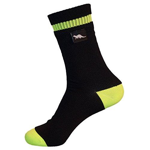OTTER Calcetines Transpirables e Impermeables (Negro Grande) Ideales para Actividades al Aire Libre como Golf Jogging Ciclismo Evitan Que la Piel se humedezca Gracias a la tecnología Coolmax® Core.