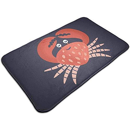 DaiMex Bodenmatte Niedliche lächelnde Krabbe isoliert auf dunklem Badezimmer Fußmatte Küche Bodenteppich 40x60 cm