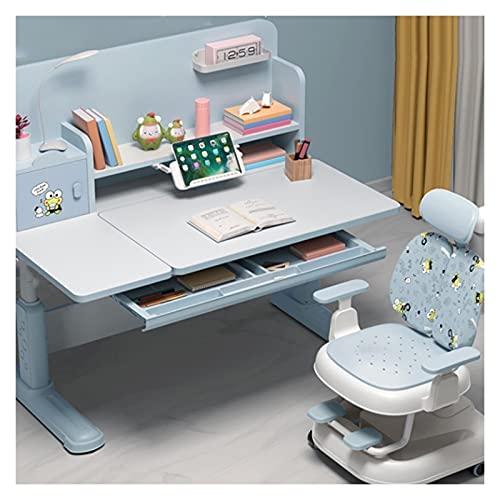 Escritorio de estudio La tabla de estudio de los niños se puede elevar y bajar el escritorio de madera maciza de la escuela primaria, escritorio de escritorio de escritorio y silla, escritorio de estu
