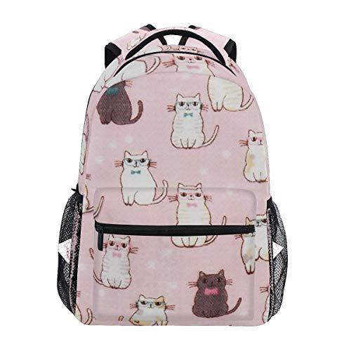 Backpack Children Backpacks,Double Gauze Cat College School Book Bag Water Resistant Travel Bag 40cm(H) x29cm(W)