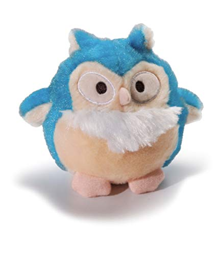 Charming Pet Howling Hoots Blue Owl Plush Squeaky Dog Toy