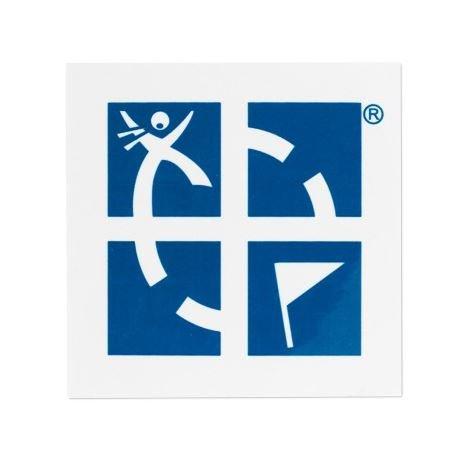 geo-versand 3 x 3 Geocaching Logo Sticker Aufkleber Geocaching Logo, Coins Travel Tag® Travelbug Geocaching Anhänger Geocaching Geschenk Trackables, TB, Coin, Coins, mit Travelbug