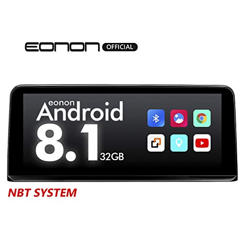 2020 Car Stereo Eonon Single Din 10.25 Inch HD Touchscreen Car Radio Compatible with iDrive System Support Support Apple Car Play/Android Auto/Bluetooth/WiFi/Fast Boot/Backup Camera/OBDII- GA9203NB