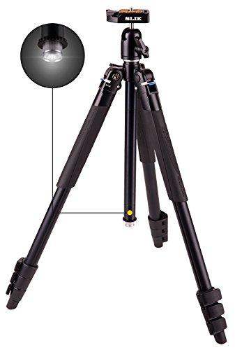 Slik Lite al-420tripode Photo Ultra-Compact de Columna Reversible con Linterna LED Negro