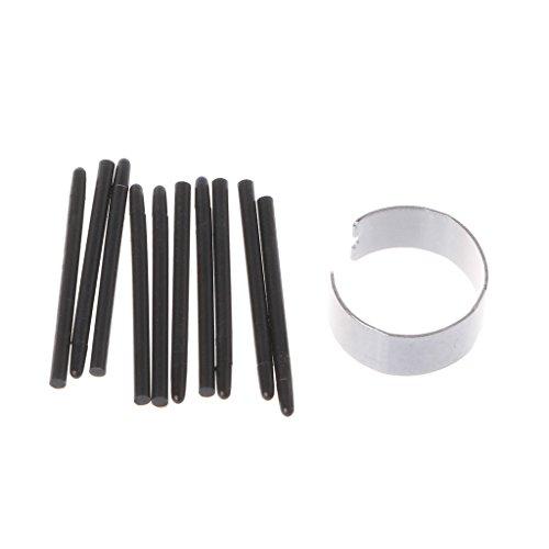 Xuebai, 10 Piezas, Almohadilla de Dibujo gráfico, Puntas de lápiz estándar, lápiz óptico para lápiz de Dibujo Wacom, Puntas de lápiz Negro, Negro