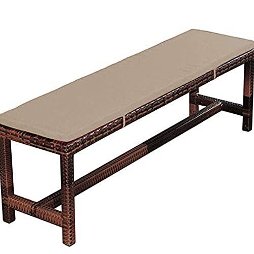 WigWu - Cuscino rettangolare da 100/120/150 cm, con laccetti di fissaggio, 2 sedie a dondolo a 3 posti, colore: beige, 100 x 40 cm