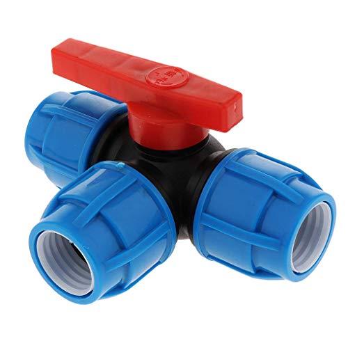 Tubayia - Tubo da giardino a 3 vie, raccordo per tubo flessibile per lavori di giardinaggio (nucleo in plastica da 32 mm)