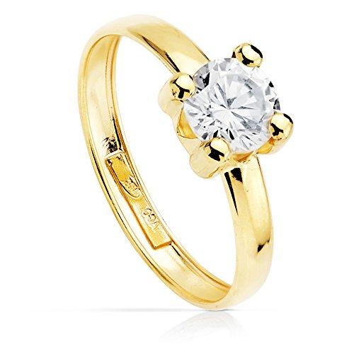 Anello di fidanzamento, da donna, in oro giallo da 18 kt, modello Sintra