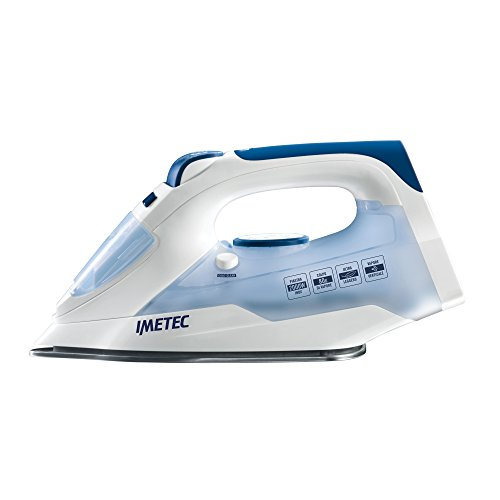IMETEC TITANOX K109 Plancha de vapor, 2000 W, 0.25 litros, Acero Inoxidable, Blanco/azul