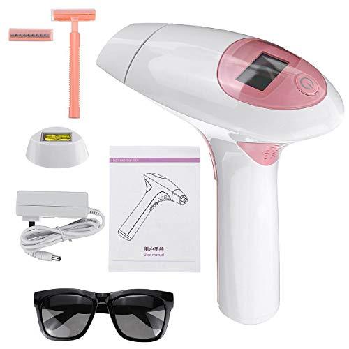 Shinelyf IPL Depiladora de luz pulsada para la depilación Permanente del Vello Visible en casa, con Cepillo sónico Exfoliante Corporal