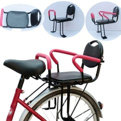 Check Out This Child Seat for Bike Back Seat,Safety Seat with Armrest and Pedal,Easy to Install Kids...