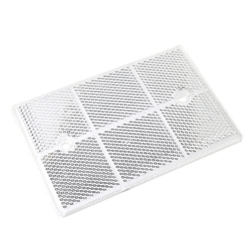 BeMatik - Espejo reflector catadióptrico rectangular para fotocélula fotoeléctrica 112x73mm