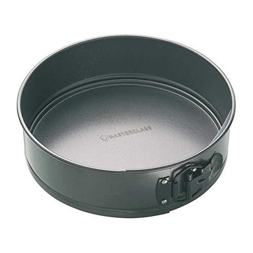 MasterClass, Antihaft-Springform-Kuchenform mit Schnellverschluss und Losem Boden, 25 cm
