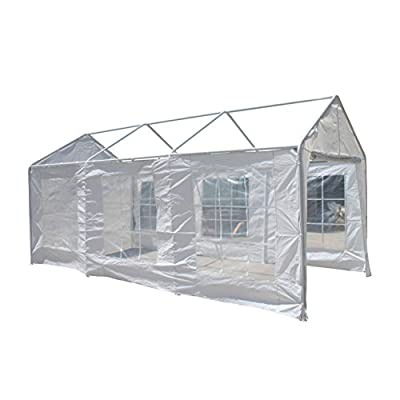 ALEKO CP1020 Replacement Canopy Side Walls for 10 x 20 Foot Carport White