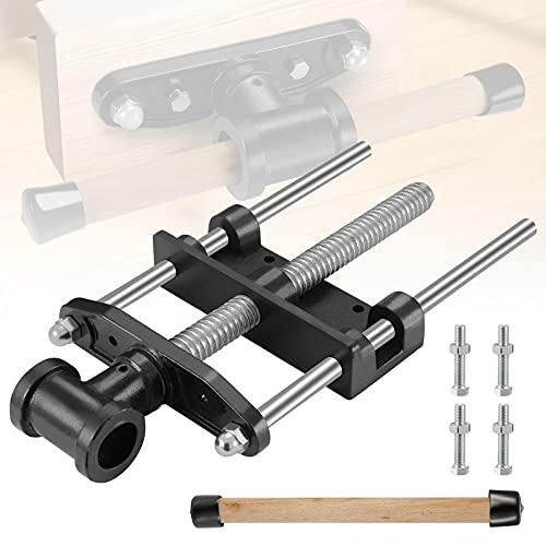 GJCrafts Tornillo de banco para carpintero Abrazadera de clip de metal para carpintería de 7 pulgadas Antideslizante sólido Tornillo de banco de mesa para trabajo pesado de carpintero