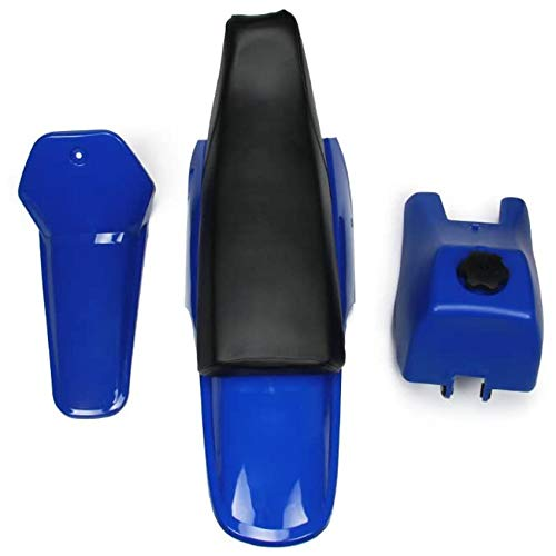 labwork Plastic Fender Fairing Body Work Kit Set, Plastic Body Fender Kit Replacement for Yamaha PW80 Blue