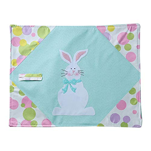 Easter Decoration, Easter Holiday Decorations Easter Bunny Placemat Tablecloth Table Mat Placemats,Home Ornaments Household Decoration Toys Gift Easter Party Favor for Kids Adults