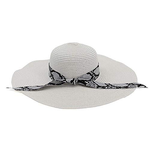 Cubo Sombrero de sol al aire libre Sombrero de sol de paja de verano for mujer Sombrero de sol de gran ala for mujer Sombrero de sol de Panamá Chapeu Femenino de rayas Floral satinado Ocio al aire lib