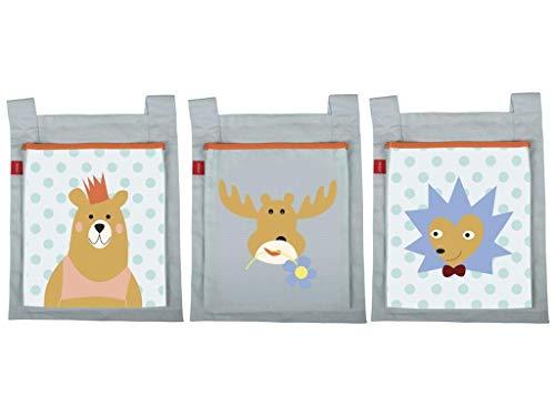 FLEXA Forest Betttaschen für Kinderbett 3 Stück 83-90190