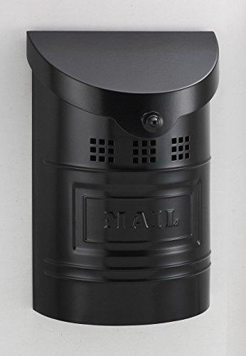 Ecco E1 Mailbox E1BK - Satin Black Finish - Small Size - Wall Mount Mailbox