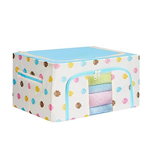 JUSTDANMING Tela plegable Oxford Paño MARCO DE ACERO Caja de almacenamiento Caja de almacenamiento de ropa Organizador de almacenamiento Caja de almacenamiento para el hogar Accesorios para herramient