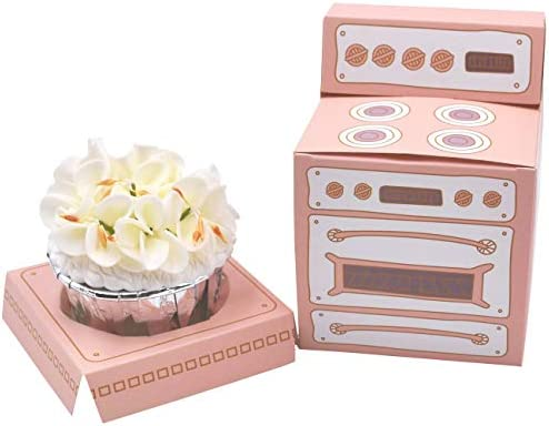 Zealax Pastel Pink Oven Cupcake Boxes Individual Bakery Paper Box Holder with Inserts Party product image