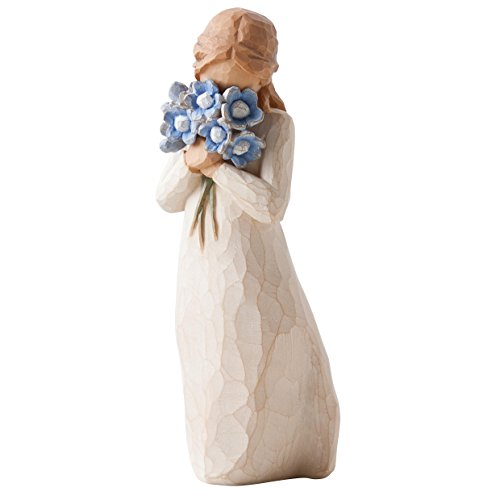 Willow Tree 26454 Figur Vergiss mich nicht, 3,8 x 3,8 x 12,7 cm