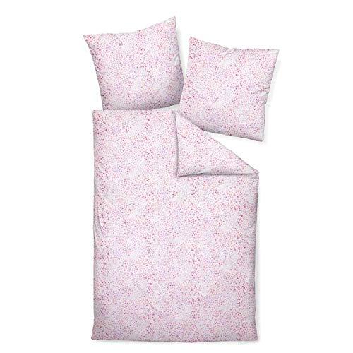 Janine Design Mako-Soft-Seersucker Bettwäsche Tango 20095 rot Rose Flieder 1 Bettbezug 155 x 220 cm + 1 Kissenbezug 80 x 80 cm