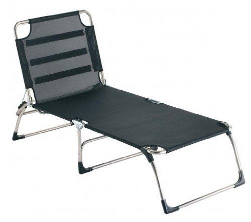 Jan Kurtz Fiam Amigo Big Chaise longue à trois pieds extra large sans traversin Noir 40 x 75 x 207 cm