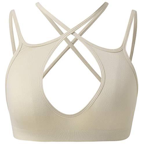 MANDDI Women's Wire Free Bra, Sport Sleeping Bra Seamless Soft Comfort Lightweight Versatility
