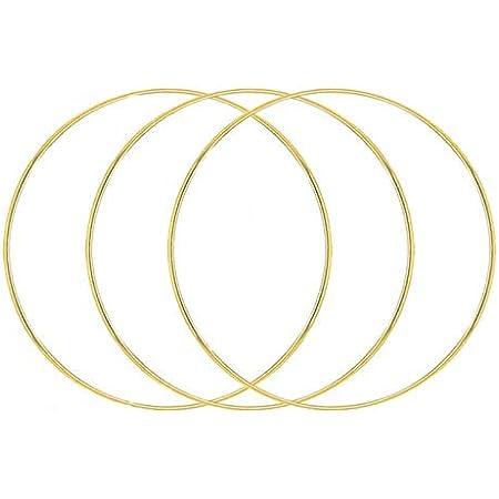 Umymaydo1 Anneaux en métal doré pour couronne de fleurs, hoop 20 cm/25 cm/30 cm/40 cm/50 cm, anneaux métalliques pour loisirs créatifs, attrape-rêves et décoration florale