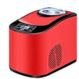 Gelatiera Mini Macchina Per Il Gelato Automatica Per La Casa Gelatiera Per Uso Domestico 1.5L 140W Gelatiere,Rosso